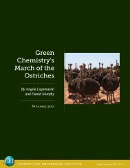 Green Chemistry's March of the Ostriches - Competitive Enterprise ...