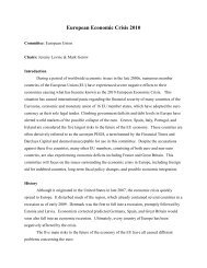 European Economic Crisis 2010 - UCSC Model United Nations