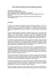 RECICLAGEM DE RESÍDUOS SÓLIDOS URBANOS NO BRASIL ...