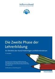 Die zweite Phase der Lehrerbildung (pdf) - Stifterverband für die ...