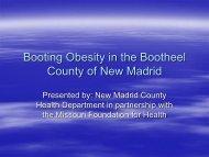 New Madrid County Health Department - University of Missouri ...
