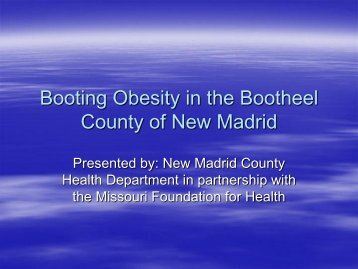 New Madrid County Health Department - University of Missouri ...
