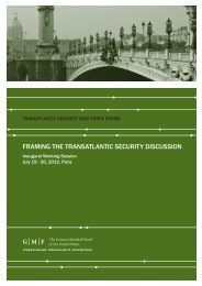 framing the transatlantic security discussion - German Marshall Fund ...