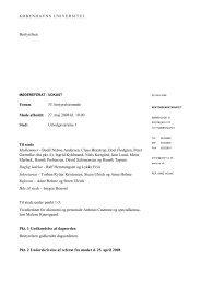 Referat - fra mødet d. 27. maj 2008 - Københavns Universitet