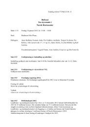 Styremøte 1 2013.pdf - Norsk Hestesenter