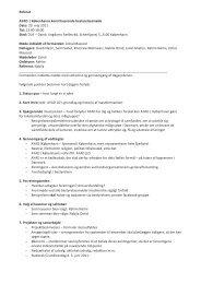 Referat AYAD | Københavns konstituerende bestyrelsesmøde Dato ...