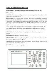 Introduksjonseksperiment vekselstrøm og bruk av oscilloskop