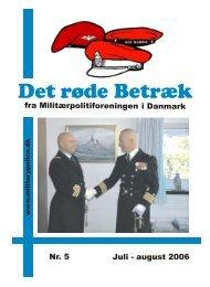 Det røde Betræk - Militærpolitiforeningen