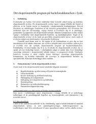 Det eksperimentelle program p bacheloruddannelsen i fysik