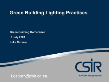 Green Building Lighting Practices - Alive2green