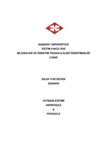 PDF şeklinde indirmek için tıklayın - Başkent Üniversitesi