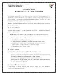 CONVOCATORIA Primer Concurso de Ensayos Escolares - La Paz ...