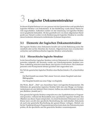 3 Logische Dokumentstruktur