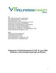 Sakspapirer - Velferdstinget i Oslo og Akershus