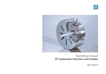 Operating manual ZF hysteresis clutches and brakes