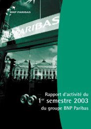 Rapport d'activité - BNP Paribas