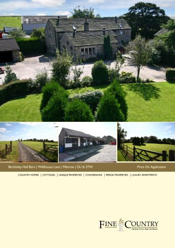 Birchinley Hall Barn   Wildhouse Lane   Milnrow ... - Fine & Country