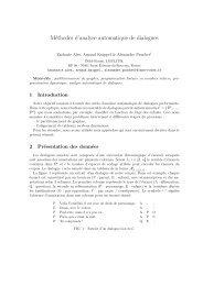 Méthodes d'analyse automatique de dialogues