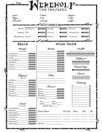 Pdf Mage The Ascension Character Sheet Wwwpicsbudcom