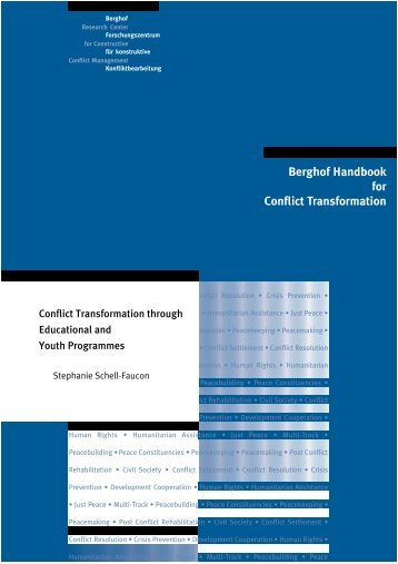 Conflict Transformation through Educational and Youth Programmes