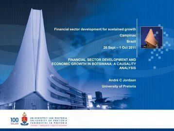 Financial sector development and economic growth in Botswana