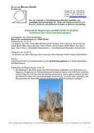 Protokoll der Begehungen am BSK (10.02.+21.05.2012) im Rahmen ...