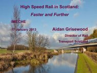 High Speed Rail in Scotland: Faster and Further Aidan ... - Near You