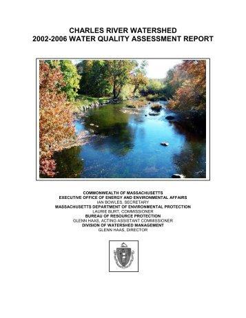 charles river watershed 2002-2006 water quality assessment report