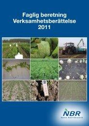 Faglig beretning Verksamhetsberättelse 2011 - NBR Nordic Beet ...