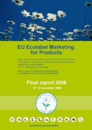 Executive Glossary - EU Ecolabel Marketing for Products