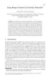 Long Range Contacts in Overlay Networks - Universidade de Coimbra
