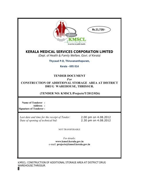 KERALA MEDICAL SERVICES CORPORATION LIMITED on