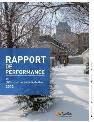 Rapport de performance 2012