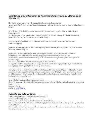 Orientering om konfirmation og ... - Otterup Sogn