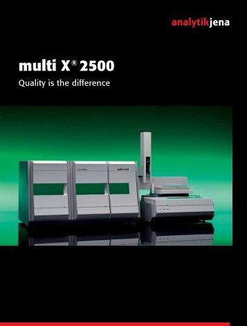 multi X® 2500 - Analytik Jena AG