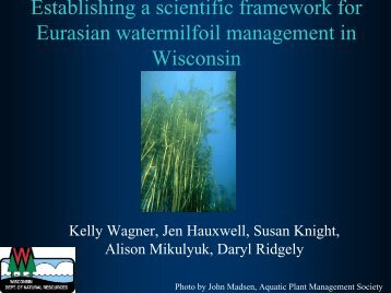 Establishing a scientific framework for Eurasian water-milfoil ...