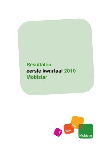 Resultaten eerste kwartaal 2010 Mobistar