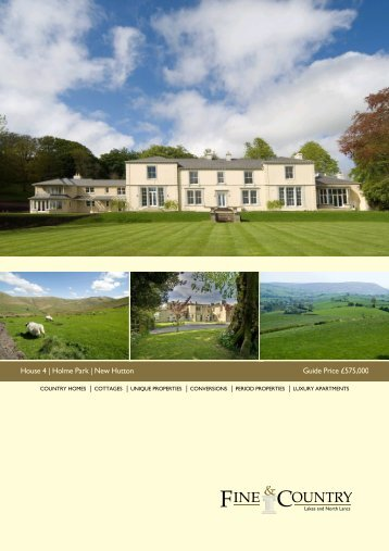 House 4 | Holme Park | New Hutton Guide Price ... - Fine & Country