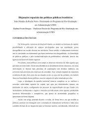 Disjunções espaciais das políticas públicas brasileiras