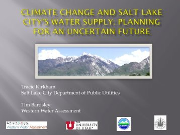 Climate Change and Salt Lake City's Water Supply