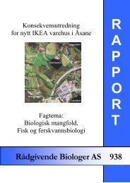 Biologisk mangfold, fisk og ferskvannsbiologi - Rådgivende Biologer ...