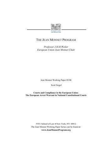 THE JEAN MONNET PROGRAM - New York University