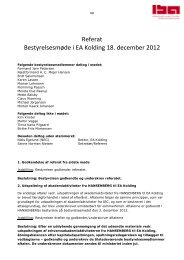 Referat Bestyrelsesmøde i EA Kolding 18. december 2012