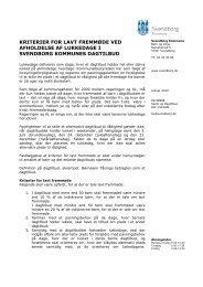 Kriterier for lavt fremmøde ved afholdelse af lukkedage - Svendborg ...