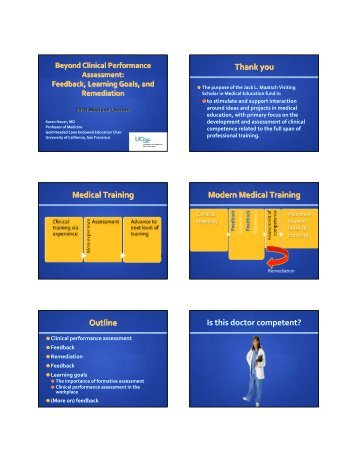 Beyond Clinical Performance Assessment - Office of Medical ...