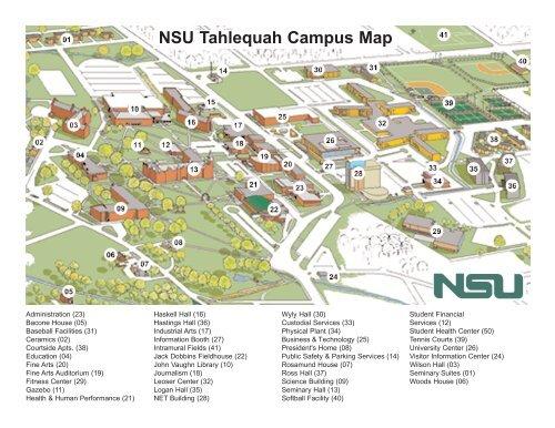 John A Logan Campus Map.Nsu Tahlequah Campus Map Arapaho Nsuok