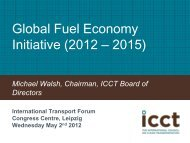 The Story of the ICCT - International Transport Forum's 2012 Summit