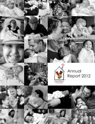 Annual Report 2012 - Ronald McDonald House