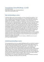 Temanyhetsbrev Astma/KOL/Allergi, v 13, 2013 ... - Internetmedicin