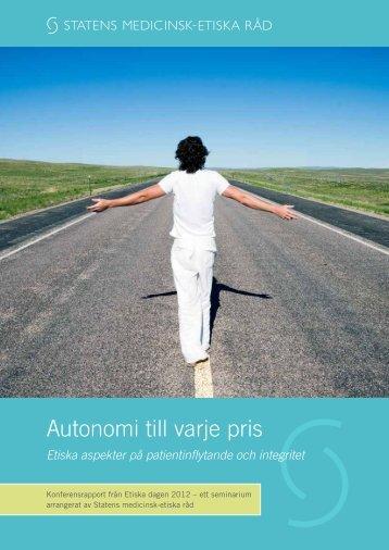 Konferensrapport Autonomi till varje pris (pdf 793 KB) - SMER